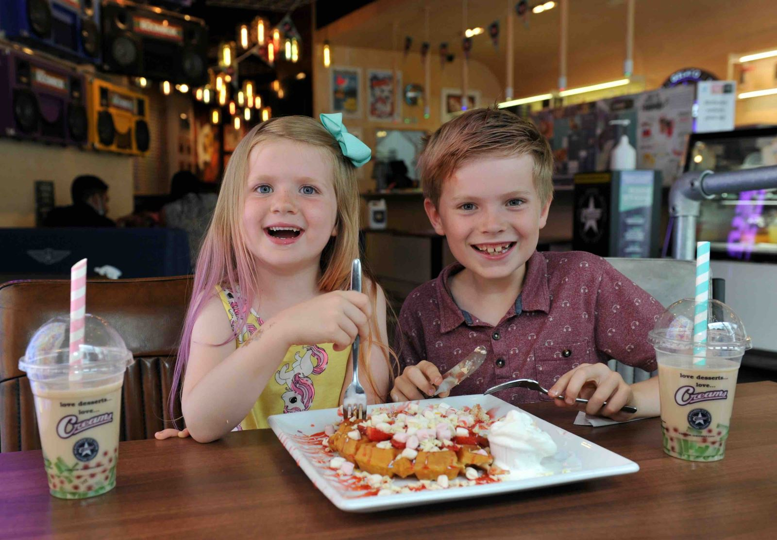 Kids dining at The Brewery Quarter