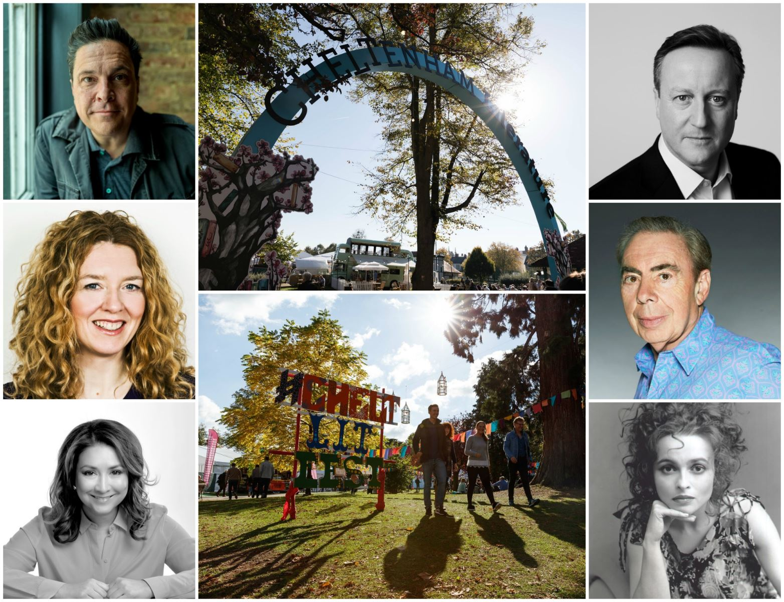 Selection of images of Cheltenham Literature Festival speakers