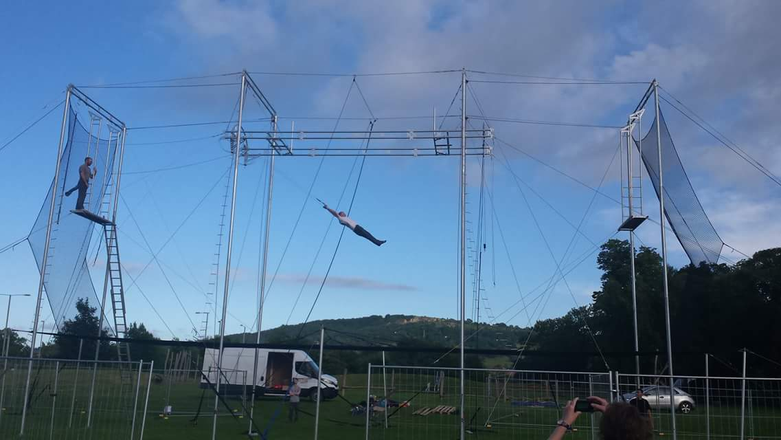 head for heights flying trapeze club comes to cheltenham visit