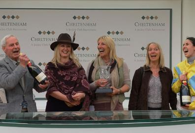 An evening at the Hunter Chase; Cheltenham Racecourse