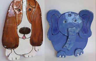 Clay make and paint your own 2D animal hanger (Easy skills)