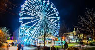Light up Cheltenham wheel