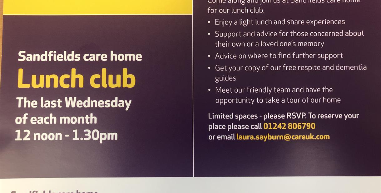 Lunch Club at Sandfields