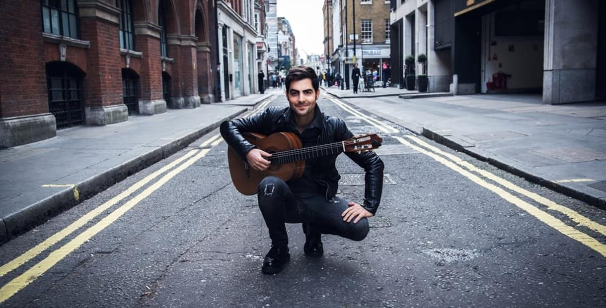 Milos the voice of guitar in Cheltenham