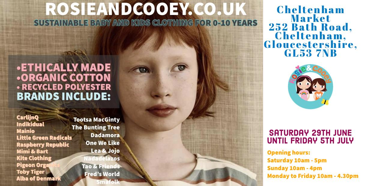 Rosie & Cooey:  Organic Kids' Clothing Pop-up Shop
