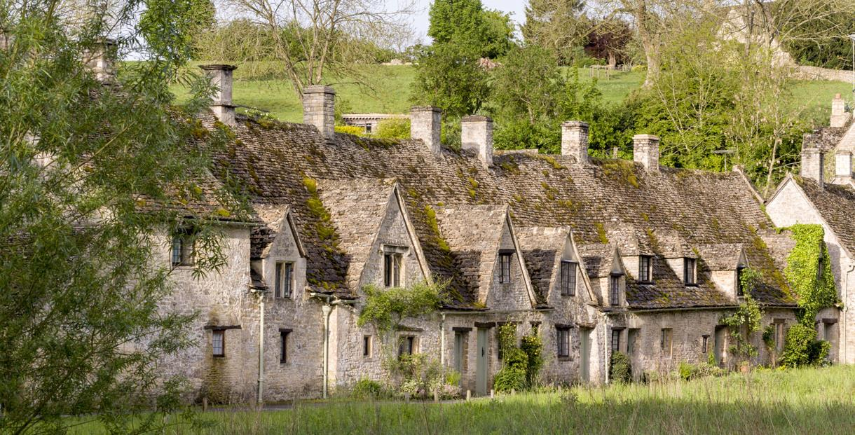 Arlington Row in Bibury - one of the most photographed scenes in England it even appears in the UK passport