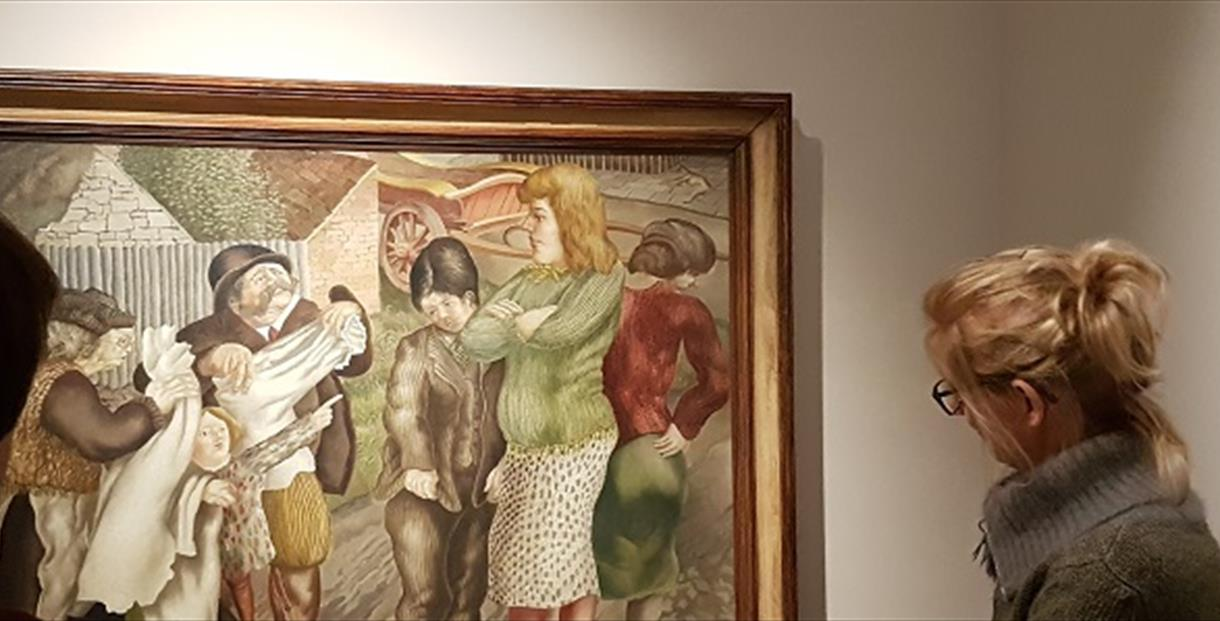 Object Talk: Village Life by Stanley Spencer