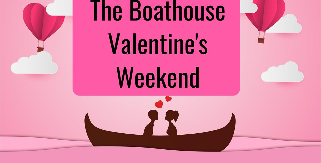 Boats are back for Valentine's Weekend at the Boathouse, Pittville Park.