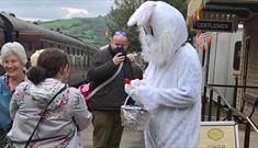 Easter Bunny at Winchcombe Station
